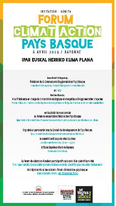 Le 6 avril, participez  au Forum Climat Action  Pays Basque !