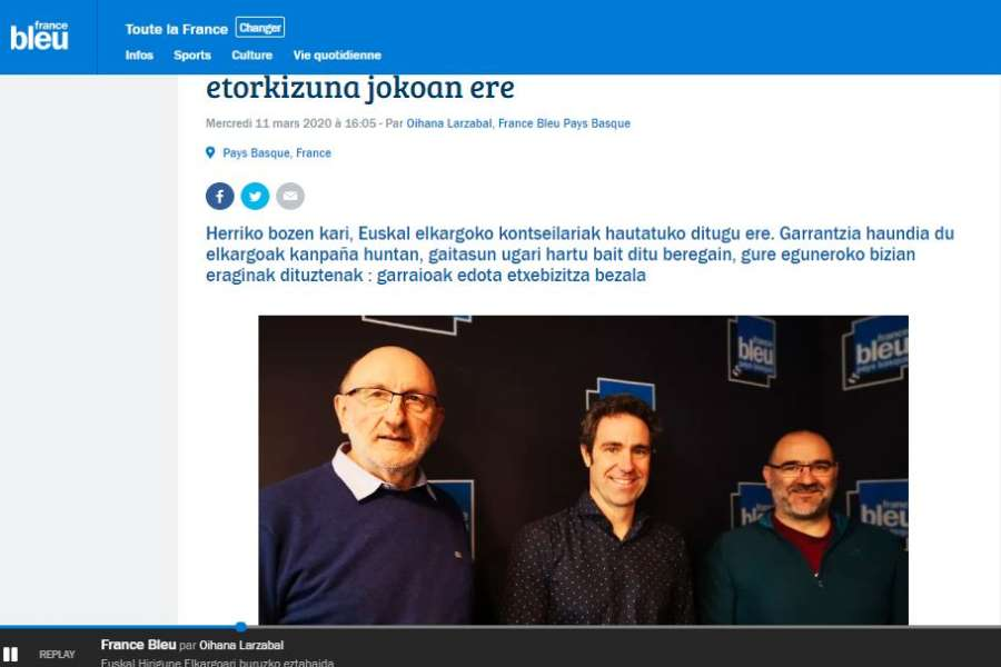 Paxkal Indo sur France Bleu ce 11 mars