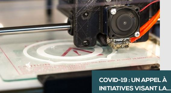 COVID-19 : un appel à initiatives pour  la fabrication d'équipements de soins