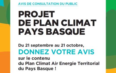 UN PLAN CLIMAT EN PHASE DE CONSULTATION