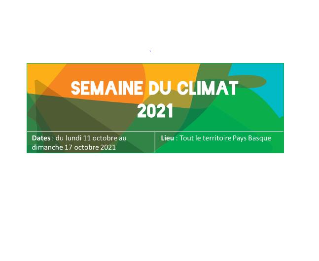 SEMAINE DU CLIMAT ET FOND DE SOUTIEN PAR LA CAPB